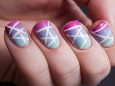Get the #DIY for these zigzag #nails. http://www.ivillage.com/best-nail-art-teen-and-tween-girls/6-a-527284#