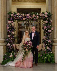 Ashley & Bryce - Enchanted Forest Wedding | Sabrina Hall Photography, Real Cleveland Wedding as seen on TodaysBride.com. enchanted forest wedding, woodland wedding, fairy tale wedding, city wedding, colorful wedding ideas