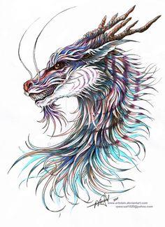 Sky Dragon's Head by artstain.deviantart.com on @DeviantArt