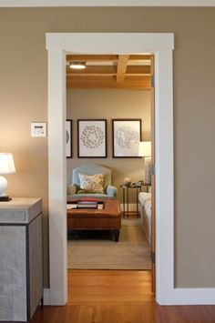 This Is Exactly What Mine Looks Like And Why I Did It Farmhouse Meets Modern Baseboard Molding Doorway So Simple Clean