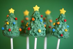 Christmas Tree Cake Pops by Bakerella,