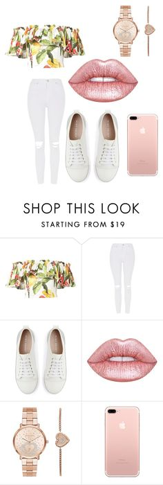 """❤️"" by marianapg01 ❤ liked on Polyvore featuring Isolda, Topshop, Mint Velvet, Lime Crime and Michael Kors"