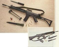 IMBEL MD-2 rifle (MD-3 rifle in the insert below)