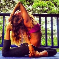 If only I could achieve this awesome yoga pose!!! #InspirationYoga