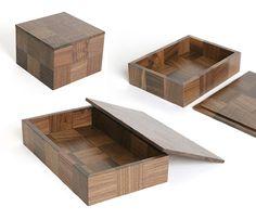 無垢材のインテリア 市松箱