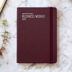 2018 Appointment B6 business dated weekly agenda by Monopoly. Organize your schedule and plan on a weekly basis with the 2018 Appointment business scheduler!