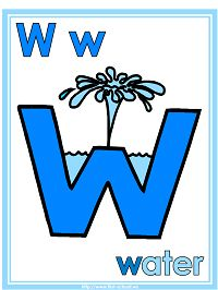 Letter W Water Theme | Preschool Lesson Plan Printable Activities and Worksheets