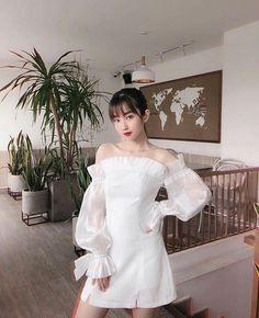 Party Fashion, Girl Fashion, Cute Dresses For Party, Girls White Dress, Lolita Dress, Aesthetic Fashion, Feminine Style, Elegant Dresses, Wattpad