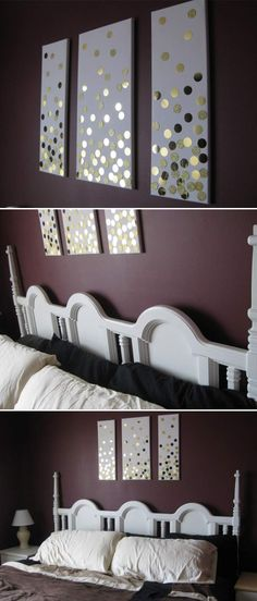 DIY canvas wall art. Click on image to see more DIYs for your home.
