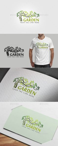 Garden Logo Template Vector EPS, AI Illustrator. Download here: https://graphicriver.net/item/garden-logo/13079569?ref=ksioks