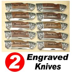 Hey, I found this really awesome Etsy listing at https://www.etsy.com/listing/157993710/set-of-2-engraved-pocket-knife-rosewood
