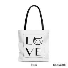 Perfect Cat Lover! Cat Tote Bag, Wedding Totes, Love Cat Tote Bag, Cat Books Bag, Cat Grocery Bag, Cat Shopping Bag, Cat Bag