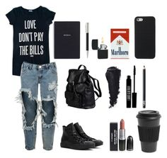 """""""Effy Stonem x School"""" by effystonemswardrobe ❤ liked on Polyvore featuring One Teaspoon, Converse, Doucal's, Bynd Artisan, Faber-Castell, Lord & Berry, NARS Cosmetics and Homage"""