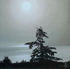 Ron Parker - Summer Fog - oil on canvas - 16 x 16