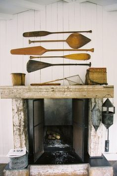 Antique oars on wall | photography by http://www.bretcole.com/