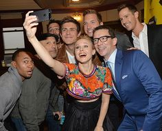 Kristen Bell pulls an Ellen and rounds up her fellow Veronica Mars cast members for a selfie at the SXSW Film Festival in Austin, TX on Mar. 8