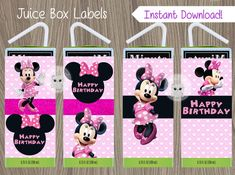 Hey, I found this really awesome Etsy listing at https://www.etsy.com/listing/268400218/minnie-mouse-juice-box-labels-minnie