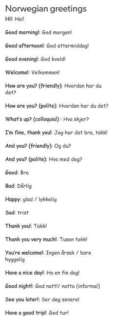 Greetings in Norwegian Lofoten, Norway Culture, Swedish Language, Danish Language, Norway Language, Norwegian Words, Learn Swedish, Beautiful Norway, Proverbs Quotes