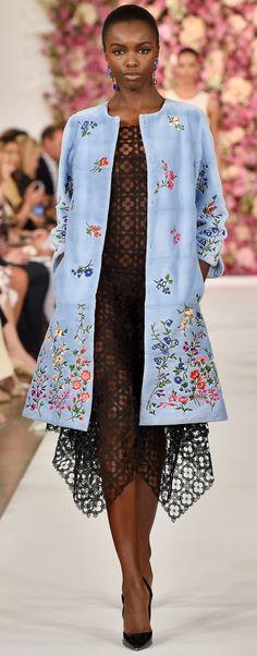Oscar de la Renta Spring 2015 note to self: LOVE this coat...dress not so much