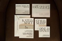 Bring a modern-themed wedding to life on paper with an oversized graphic font.