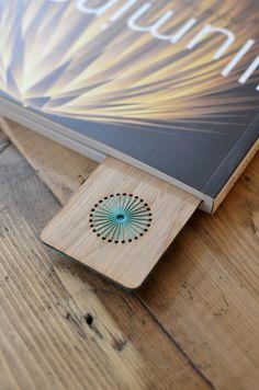 Oak Veneer Bookmark in'Illuminate' - Radiance