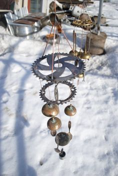 Bicycle gear wind chime - Etsy item; no longer available, but I still like it!