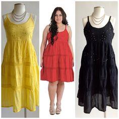 Bohemian Crochet Plus Size Peasant Dresses