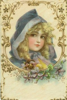 FREE shipping       1900-FRANCES-BRUNDAGE-Beautiful-Girl-in-Blue-Hood                Mouse over image to zoom                                               Have one to sell? 	Sell it yourself           1900 FRANCES BRUNDAGE Beautiful Girl in Blue Hood