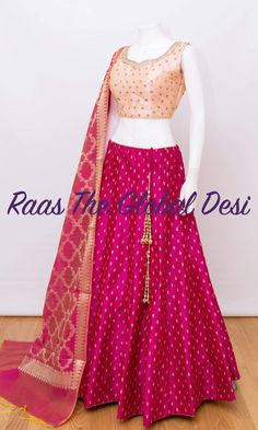 choli-[navratri_chaniya_choli]-[chaniya_choli_online_USA]-[chaniya_choli_for_garba]-[chaniya_choli_for_navratri]-Raas The Global Desi Half Saree Lehenga, Lehenga Gown, Lehnga Dress, Indian Lehenga, Half Saree Designs, Choli Designs, Lehenga Designs, Blouse Designs, Indian Designer Outfits