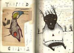 For the creepy and macabre, now is your chance to shine. Choose a dark media like charcoal or sharpie and enjoy!