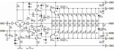 This is a very high power amplifier circuit diagram by Rod Elliott. The circuit is built using 10 pairs of power transistor and (or then it will use 20 piece… Hifi Amplifier, Audiophile, Crown Amplifier, Electronic Circuit Design, Subwoofer Box Design, Speaker Plans, Electronic Schematics, Circuit Projects, Circuit Diagram