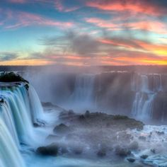 Whether you visit Iguazu National Park on the Argentinian side or Iguaçu National Park on the Brazilian side--the waterfall, one of the world's largest, is sure to impress!!