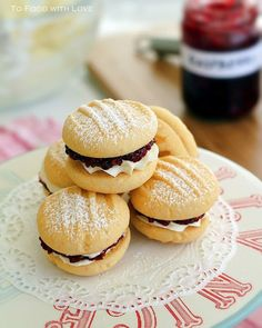 To Food with Love: Melting Moments with Raspberries and Cream. Going to have to try these!