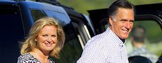 Ann and Mitt Romney one day ahead of the GOP Convention. (AP Photo/Evan Vucci)