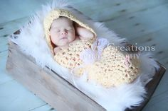 Baby Cocoon Newborn Pod Hooded Cocoon Crochet by Monarchdancer, $35.00