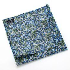 Blue Arbor Floral Pocket Square