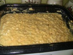 Roaster Cheesy Potatoes  6 – 2 lb. bags of frozen cubed hash browns  6 cups sour cream  6 cans of cream of chicken soup  6 sticks of butter  6 – 16 oz. bags of shredded cheese  Spray the roaster with non-stick cooking spray. Mix butter, soup, sour cream…then add potatoes and cheese. Cook in roaster @ 350 for 5 1/5 to 6 hrs. Stir often. Serves around 100.