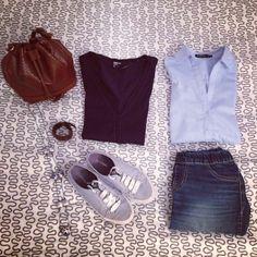 Azul y marrón para empezar la semana ¡Feliz tarde! #ideassoneventos #imagenpersonal #imagen #moda #ropa #looks #vestir #wearingtoday #hoyllevo #fashion #outfit #ootd #style #tendencias #fashionblogger #personalshopper #blogger #me #lookoftheday #streetstyle #outfitofday #blogsdemoda #instafashion #instastyle #details #detalles #complementos #azul #marrón
