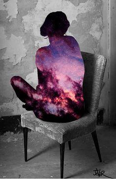 Universe inside by LouiJoverArt