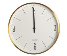House Doctor Couture Clock Guld/Hvid