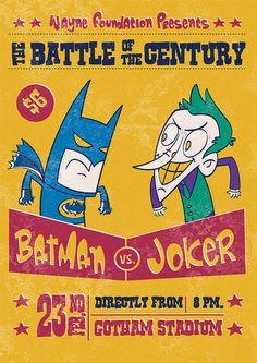 Batman vs. Joker by arielfajtlowicz, via Flickr