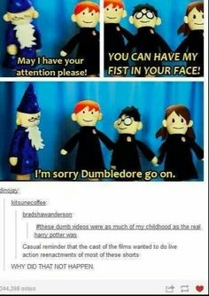 Harry Potter puppet pals weren't really my childhood, but I still know that they're legit Harry Potter Love, Harry Potter Universal, Harry Potter Fandom, Harry Potter Memes, Potter Facts, James Potter, Ravenclaw, Hufflepuff Pride, Geeks