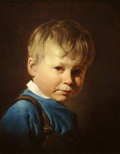 child portrait by Nikolai Shurygin (1957-- Russian)