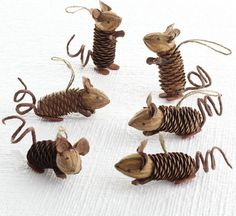 DIY Pinecone Mice, super cute!