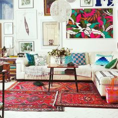 SentiMenti's world, old oriental rugs, carpets, layers.