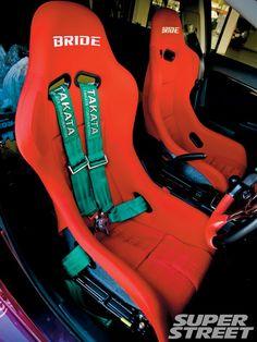 Red Bride Racing Seats