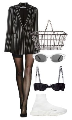 """Untitled #652"" by mimiih on Polyvore featuring Alexander Wang, Givenchy, Chanel, Balenciaga and basketbags"