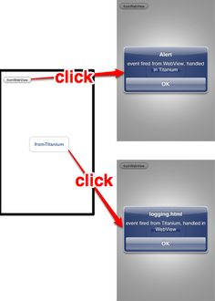 Communication Between WebViews and Titanium - Documentation & Guides - Communication, App, Apps, Communication Illustrations