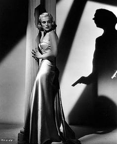Mona Stevens (Lizabeth Scott) in Pitfall.  Director: André De Toth. Image from Film Noir Photos blog.