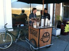 FOOD CART bicycle coffee